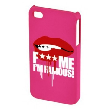 """Футляр Hama FMIF Lip Pink (для iPhone4, F*** ME I""""M FAMOUS)"""