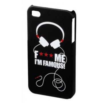 """Футляр Hama FMIF Headset Black (для iPhone 4/4S, F*** ME I""""M FAMOUS, H-108594)"""