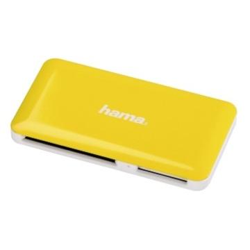 Ридер USB3.0 Hama Slim Yellow White (USB3.0, для всех стандартов карт памяти, кроме xD, H-114841)