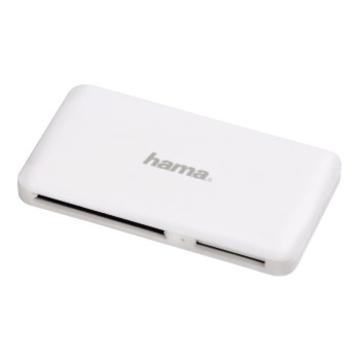 Ридер USB3.0 Hama Slim White (USB3.0, прорезиненный, для всех стандартов карт памяти, кроме xD, H-114842)