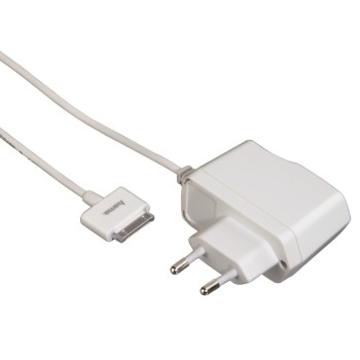 Зарядное устройство Hama Travel White (для iPhone 3G/3GS/4/4S/iPod, USB, 100-240В/1000мА, H-115098)