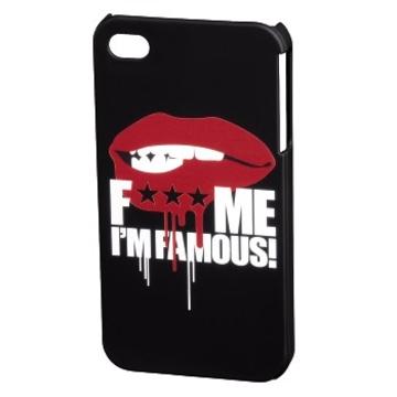 Футляр Hama FMIF Black (для iPhone 4/4S, F*** ME I`M FAMOUS, Mouth, пластик, H-115323)