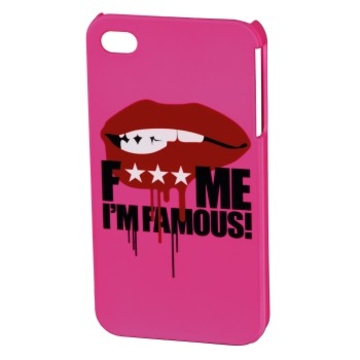 Футляр Hama FMIF Pink (для iPhone 4/4S, F*** ME I`M FAMOUS, Mouth, пластик, H-115325)