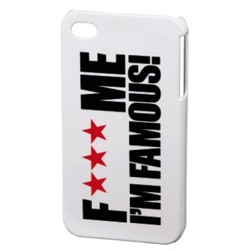 Футляр Hama FMIF White (для iPhone 4/4S, F*** ME I`M FAMOUS, пластик, H-115329)