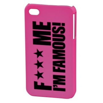 Футляр Hama FMIF Pink (для iPhone 4/4S, F*** ME I`M FAMOUS, пластик, H-115330)