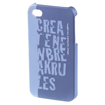 Футляр Hama aha: Croom Blue (для iPhone4/4S, конструктивный доступ ко всем кнопкам, пластик, H-115342)