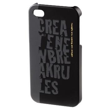 Футляр Hama aha: Croom Black (для iPhone4/4S, конструктивный доступ ко всем кнопкам, пластик, H-115344)