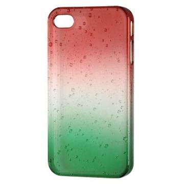 Футляр Hama Drop Red Green (для iPhone 4/4S, доступ ко всем кнопкам, пластик, H-115360)