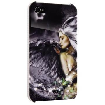 Футляр Hama Angel Grey (для iPhone 4/4S, украшен кристаллами Swarowski, White Diamonds, пластик, H-115382)