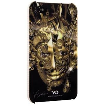 Футляр Hama The Mechanist Gold (для iPhone 4/4S, украшен кристаллами Swarowski, White Diamonds, пластик, H-115383)