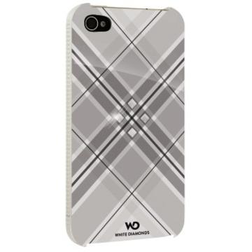 Футляр Hama Grip White (для iPhone 4/4S, украшен кристаллами Swarowski, White Diamonds, пластик, H-115390)