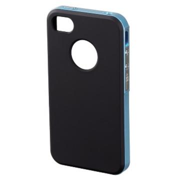Футляр Hama Hybrid Black Blue (для iPhone4/4S, пластик, H-118725)