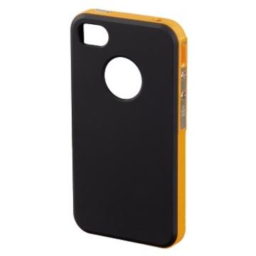 Футляр Hama Hybrid Black Orange (для iPhone4/4S, пластик, H-118726)