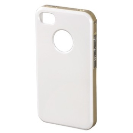 Футляр Hama Hybrid White Gold (для iPhone4/4S, пластик, H-118728)