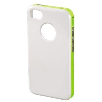Футляр Hama Hybrid White Yellow (для iPhone4/4S, пластик, H-118729)