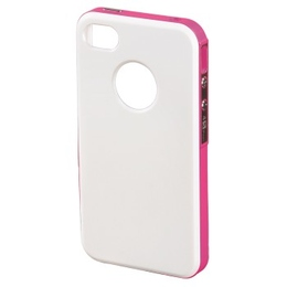 Футляр Hama Hybrid White Pink (для iPhone4/4S, пластик, H-118730)