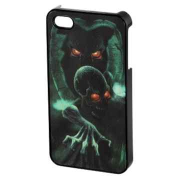 Футляр Hama Dark Skull 3D Black (для iPhone4/4S, пластик, H-118742)
