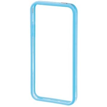 Бампер Hama Edge Protector Blue Transparent (для iPhone 5, пластик, доступ ко всем кнопкам, H-118818)