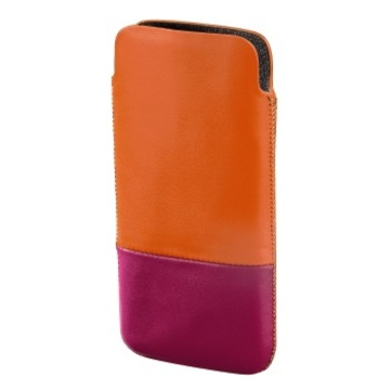 Чехол Hama Domino Orange Pink (для iPhone 5, кожа, H-118822)