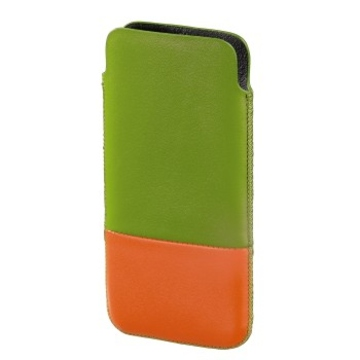 Чехол Hama Domino Green Orange (для iPhone 5, кожа, H-118824)