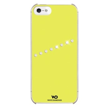 Футляр White Diamonds Sash Neon Yellow (для iPhone 5, украшен кристаллами Swarowski, пластик, H-118841)