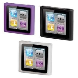 Футляр Hama SportCase (для iPod Nano 6G, силикон, 3шт., прозрачный, черный, пурпурный, H-13272)
