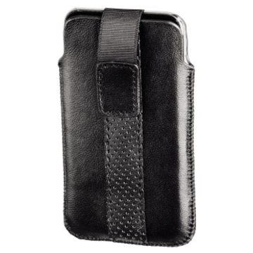 Чехол Hama Delicate Sleeve Black (для iPod touch 4G, язычок для извлечения, натуральная кожа, H-13284)
