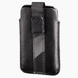 Чехол Hama Delicate Sleeve C Black (для iPod touch 4G, язычок для извлечения, салфетка, натуральная кожа, H-13285)
