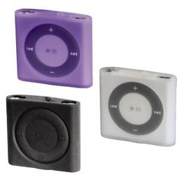 Чехол Hama Sport Case (для iPod Shuffle 4G, набор 3шт, силикон, прозрачный/черный/лиловый, H-13291)