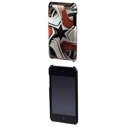 Футляр силиконовый Hama Star Black White Red (для iPod touch 4G, пластик, 3D рисунок)