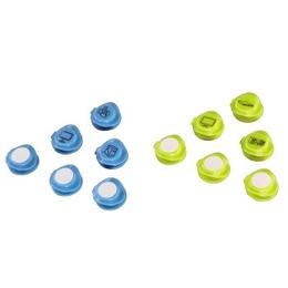 Зажимы фиксаторы Hama Ident Blue Yellow (для кабеля, 12 шт., H-20539)