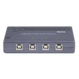 Переключатель USB2.0 Hama (1:4 для использования 1 USB устройства с 4 компьютерами)