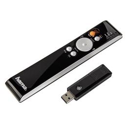 Презентер Hama Black Silver (с лазерной указкой, беспроводной, до 10 м, картридер microSD, подходит для MAC OS 9.0)
