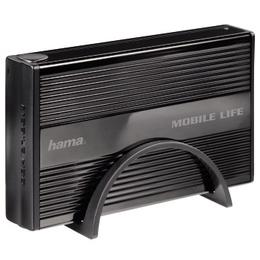 "Корпус для HDD Hama Black (3.5"", SATA, USB2.0, eSATA/USB2.0, ""горячее"" подключение, аллюминий)"