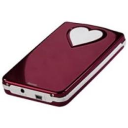 "Корпус для HDD Hama Red (2.5"", SATA, USB2.0, Red-Heart, аллюминий)"