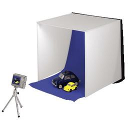 Фотостудия мобильная Hama Easy (3 оттенка белого, 2 цвета фона (серый/синий), 40 х 40 см, складывается в чемоданчик толщиной 3 см, нейлон)