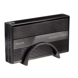 "Корпус для HDD Hama Black (3.5"", SATA, USB2.0, Mobile Life, ""горячее"" подключение, аллюминий)"