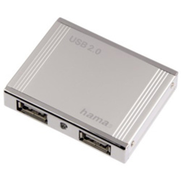 USB-хаб Hama Silver (на 4 гнезда, корпус аллюминий)
