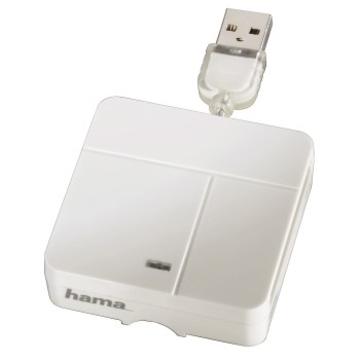 Card reader Hama Basic White (USB2.0, для всех стандартов карт памяти, поддерживает SDXC)
