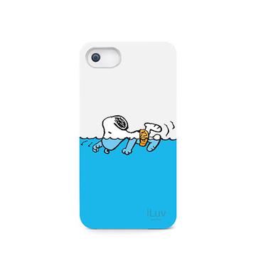 Футляр iLuv iCA7H383 Snoopy Sports Series White (для iPhone 5, жесткий пластик)
