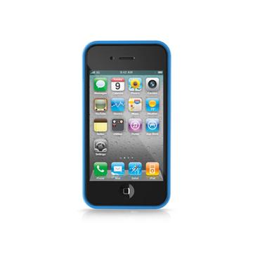 Бампер iLuv iCC741 Edge Blue (для iPhone 4S)