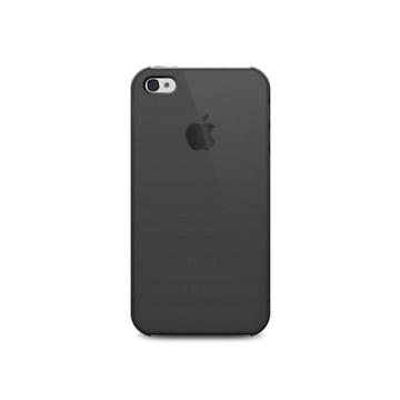 Чехол iLuv iCC743 Overlay Black (для iPhone 4S, полупрозрачный мягкий пластик)
