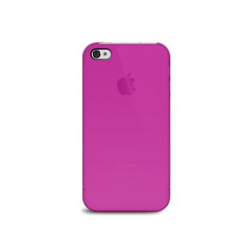 Футляр iLuv iCC743 Overlay Pink (для iPhone 4S, полупрозрачный мягкий пластик)