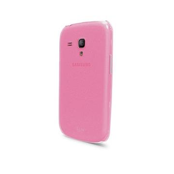 Футляр iLuv iCS7H313 Overlay Pink (для Samsung Galaxy S III Mini, полупрозрачный мягкий пластик)