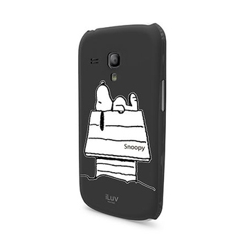 Футляр iLuv iCS7H385 Snoopy Black (для Samsung Galaxy S III Mini, твердый пластик)