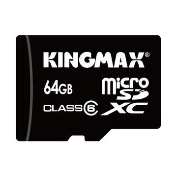 MicroSDHC 64Гб Kingmax Класс 6 (адаптер)