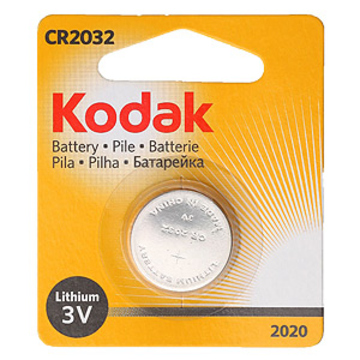 Батарейка Kodak NEW (дисковая литиевая батарейка, CR2032, 3 В, 1 шт., в блистере, 12/6552, срок хранения 7 лет)