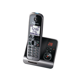 Panasonic KX-TG6721RUB Black (голосовой АОН, Caller ID, спикерфон, автоответчик, радионяня)