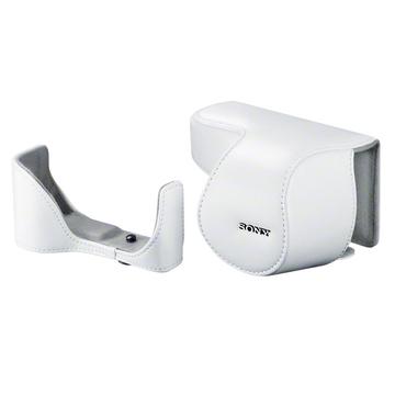Чехол для фотоаппарата Sony LCS-ELC5 White (для NEX -5R с объективом 16-50mm, кожа)
