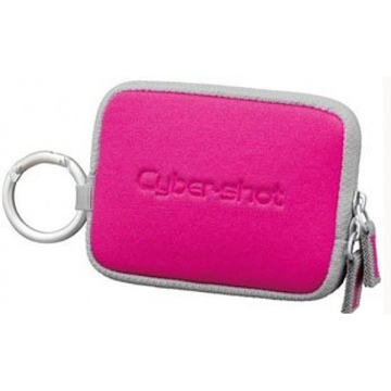 Чехол для фотоаппарата Sony LCS-TWE Pink (для фотокамер, с карабином)
